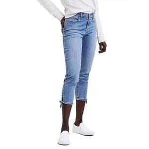 Levi's | Skinny Knot Hem Classic Crop Jeans sz 12
